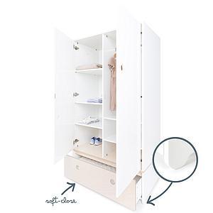 Armario 2 puertas COLORFLEX cajón frontal white wash