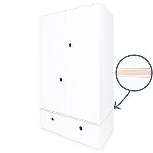 Armario 2 puertas COLORFLEX cajón frontal white