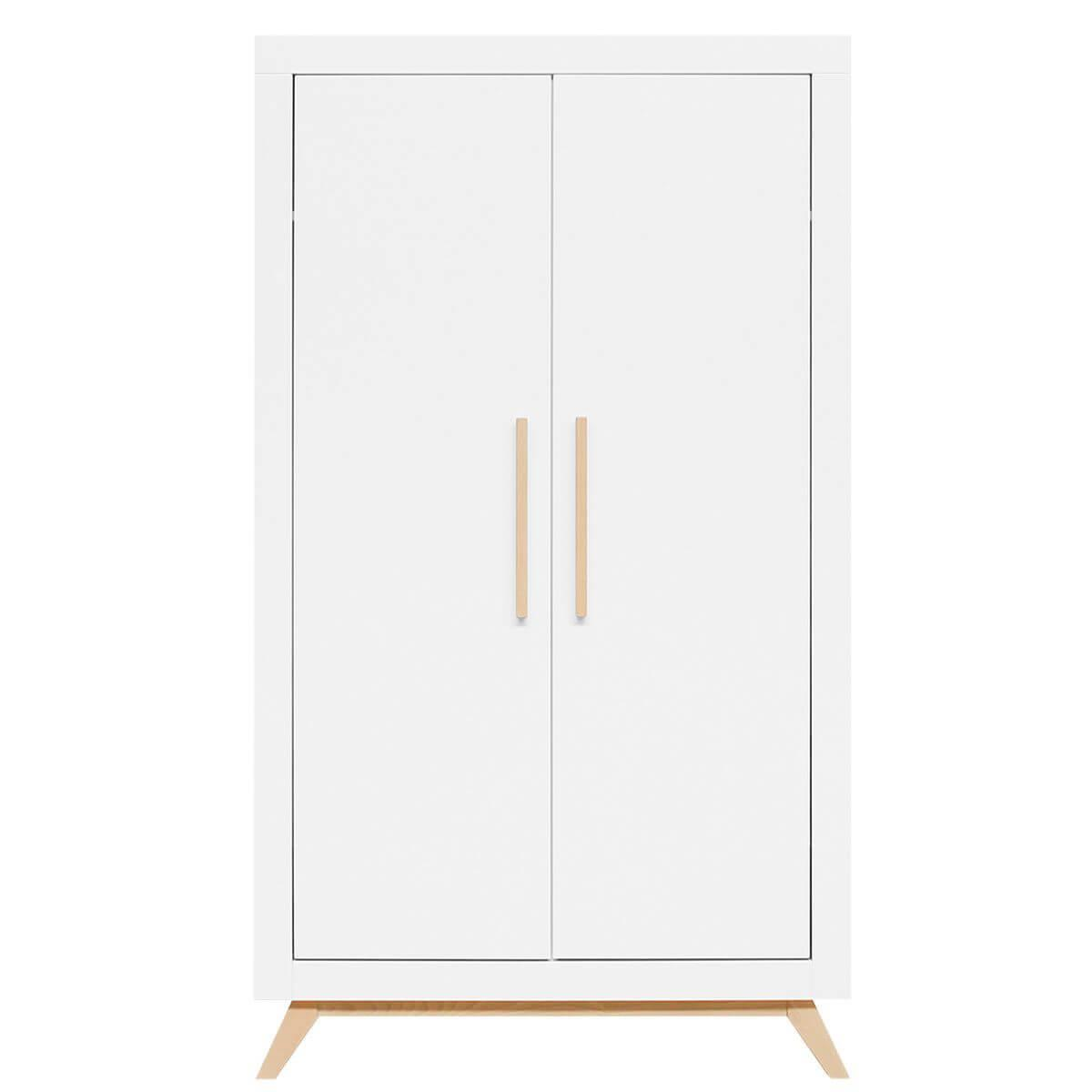 Armario 2 puertas FENNA Bopita blanco-natural