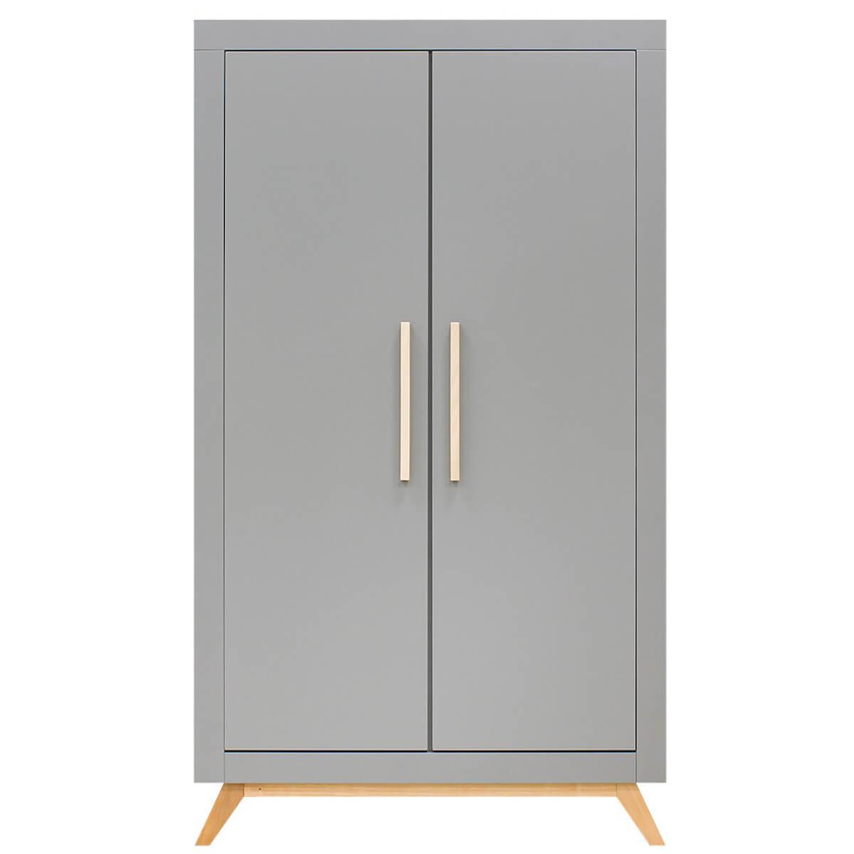 Armario 2 puertas FENNA Bopita gris-natural