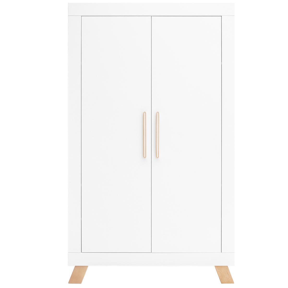 Armario 2 puertas LISA Bopita blanco-natural