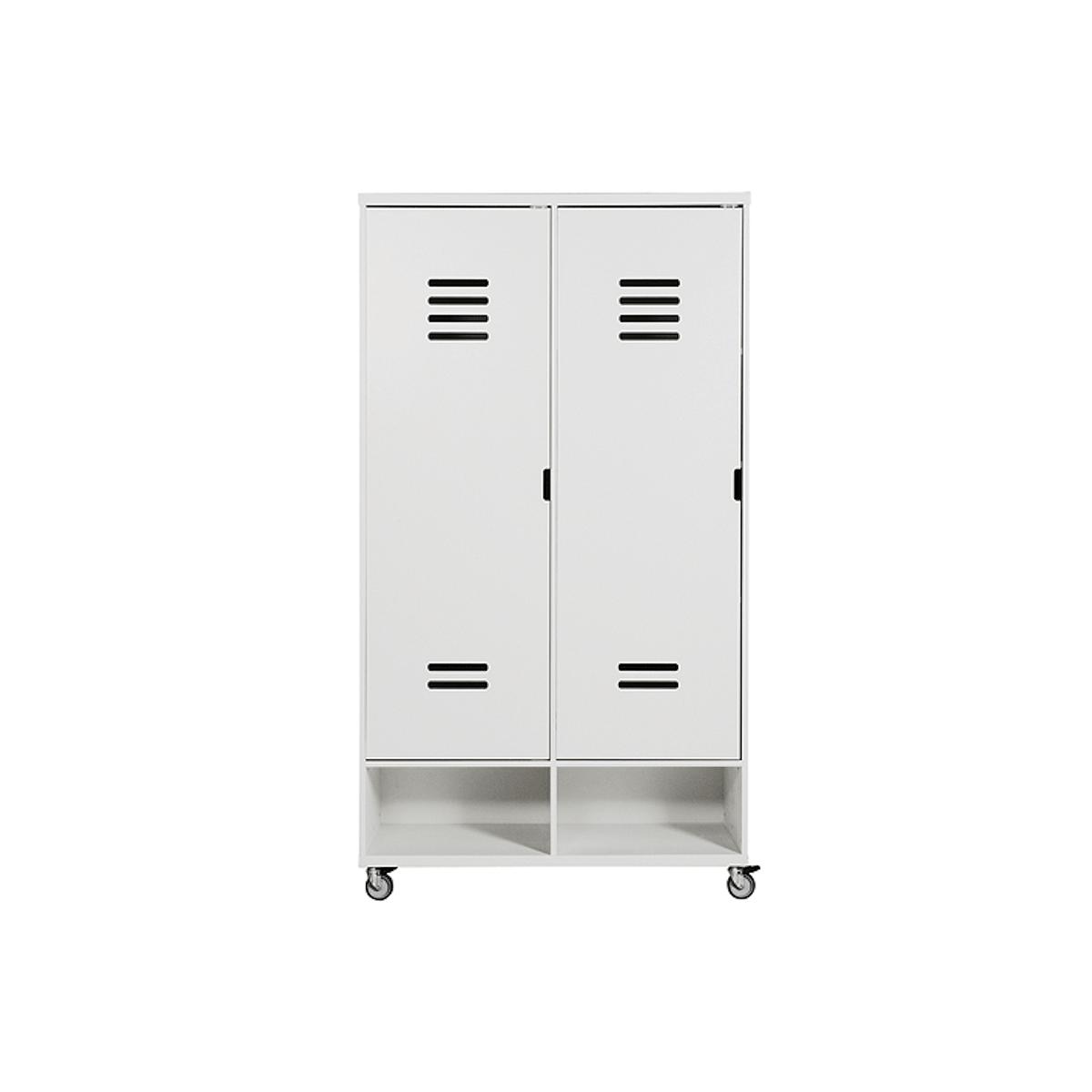Armario 2 puertas LOCKER Bopita blanco (sin cajones)