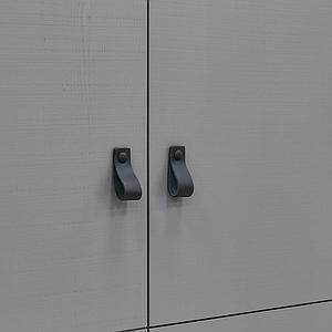 Armario 2 puertas MILO Bopita Steel grey