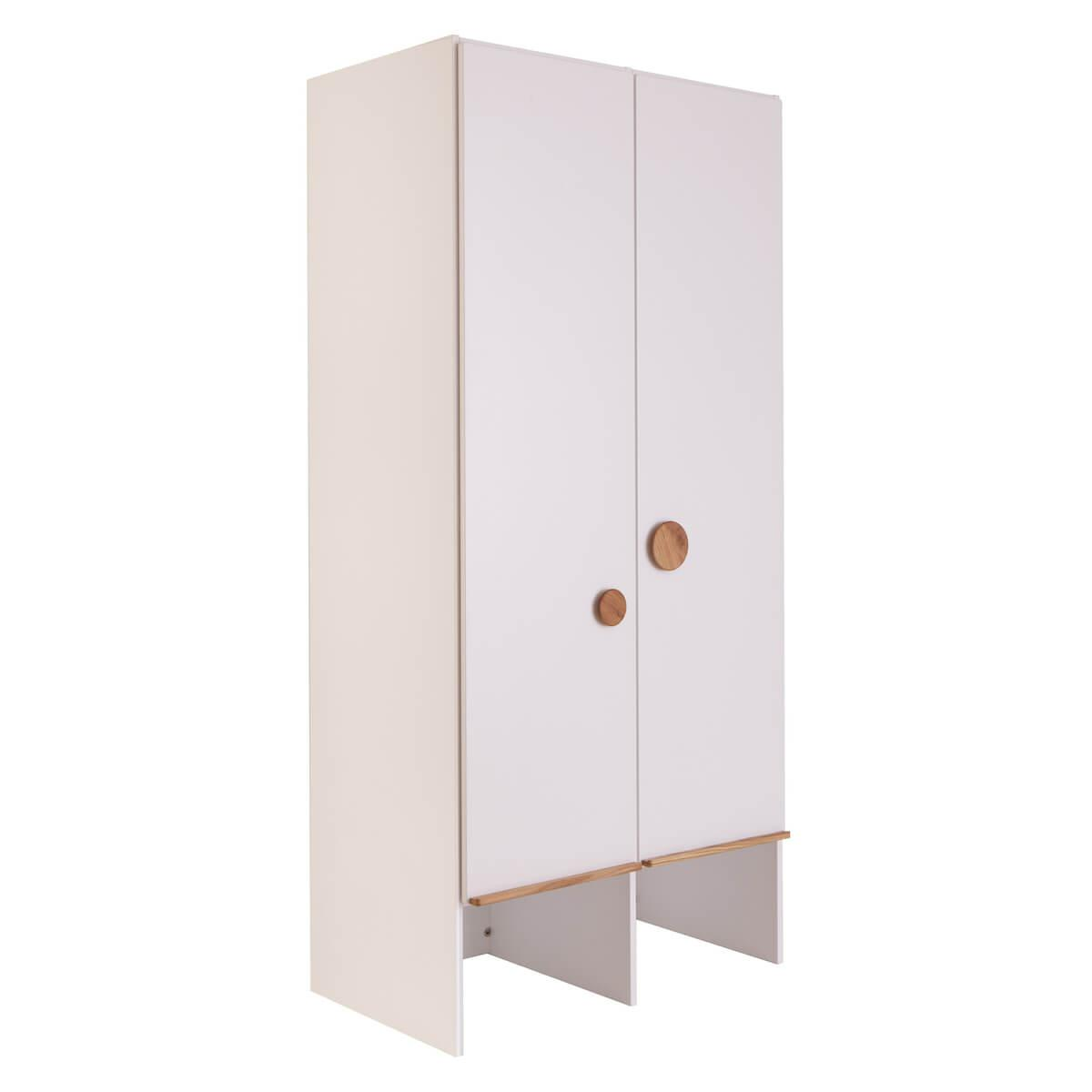 Armario 2 puertas-sin cajones KASVA blanco-roble
