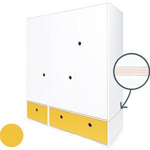 Armario 3 puertas COLORFLEX cajones frontales nectar yellow