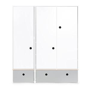 Armario 3 puertas COLORFLEX cajones frontales pearl grey