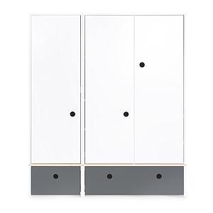 Armario 3 puertas COLORFLEX cajones frontales space grey