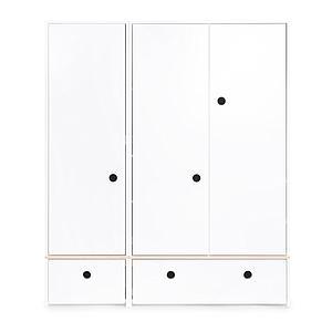 Armario 3 puertas COLORFLEX cajones frontales white