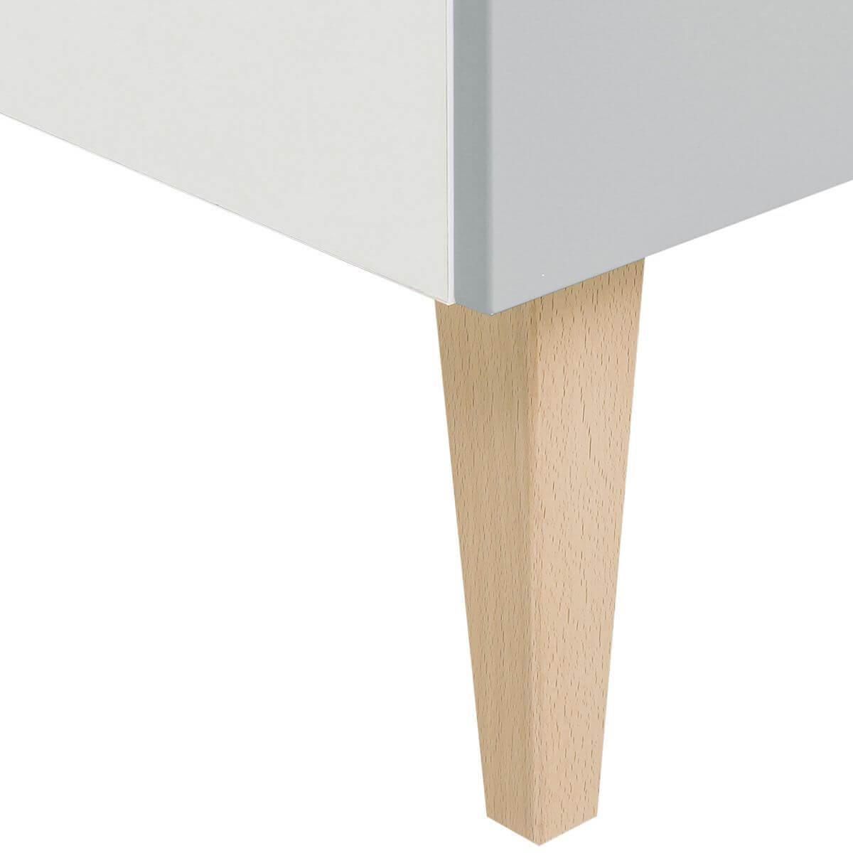 Armario 3 puertas EMMA Bopita blanco-gris