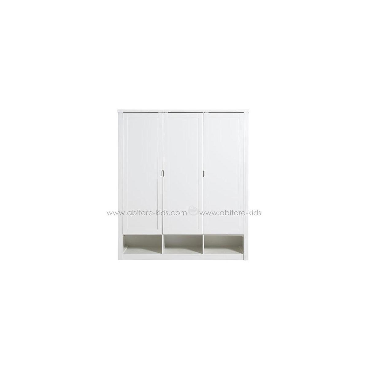 Armario 3 puertas LUXE Bopita blanco (sin cajones)