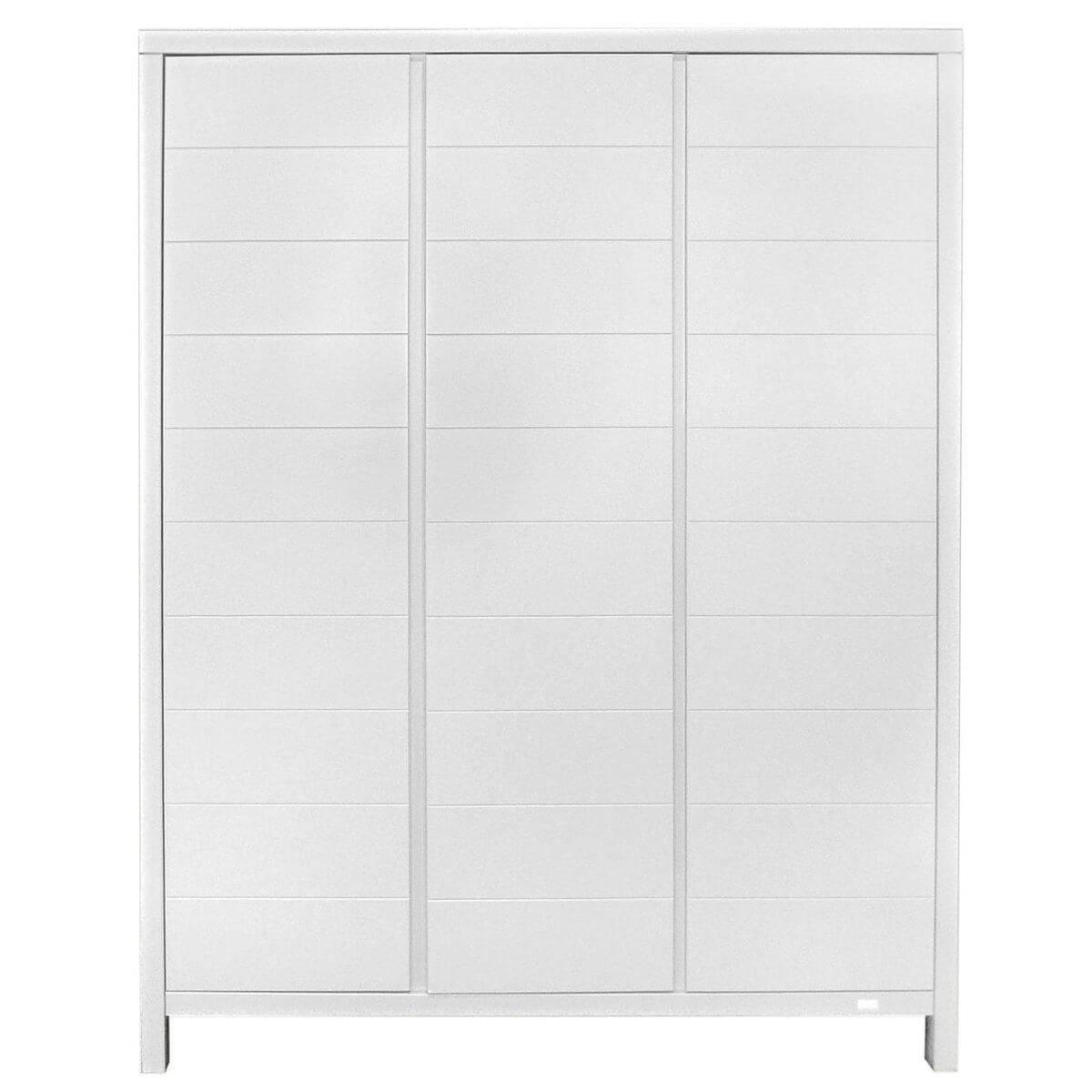 Armario 3 puertas STRIPES Quax blanco