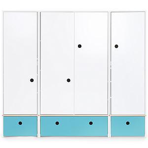 Armario 4 puertas COLORFLEX Abitare Kids cajones frontales paradise blue