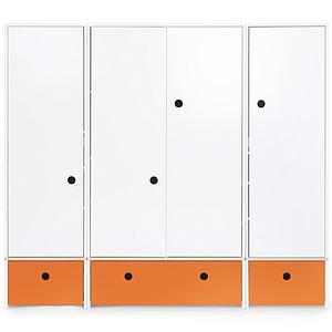 Armario 4 puertas COLORFLEX Abitare Kids cajones frontales pure orange