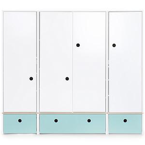 Armario 4 puertas COLORFLEX Abitare Kids cajones frontales sky blue