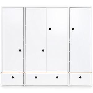 Armario 4 puertas COLORFLEX Abitare Kids cajones frontales white