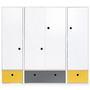 Armario 4 puertas COLORFLEX cajones frontales nectar yellow-space grey-nectar yellow