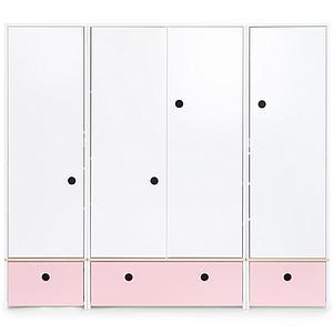 Armario 4 puertas COLORFLEX cajones frontales sweet pink