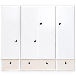 Armario 4 puertas COLORFLEX cajones frontales white wash