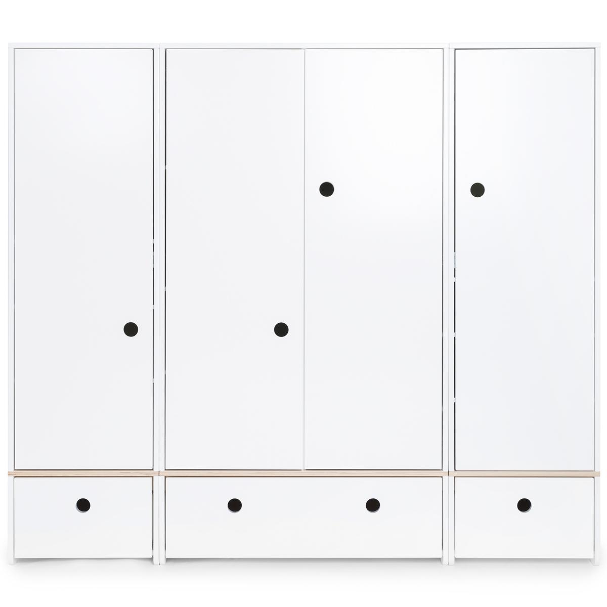 Armario 4 puertas COLORFLEX cajones frontales white