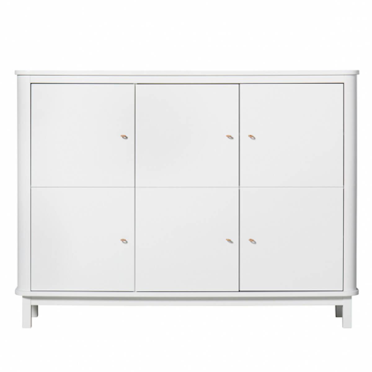 Armario bajo 3 puertas WOOD Oliver Furniture blanco