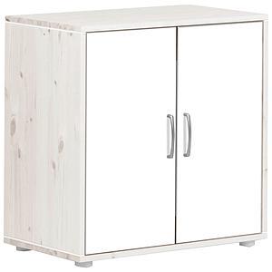 Armario infantil 2 puertas 1 estante NEW CLASSIC Flexa blanco cal - blanco - blanco