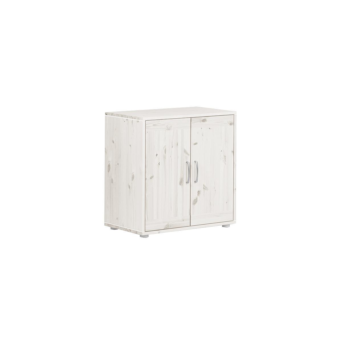 Armario infantil 2 puertas 1 estante NEW CLASSIC Flexa blanco cal - blanco cal - blanco