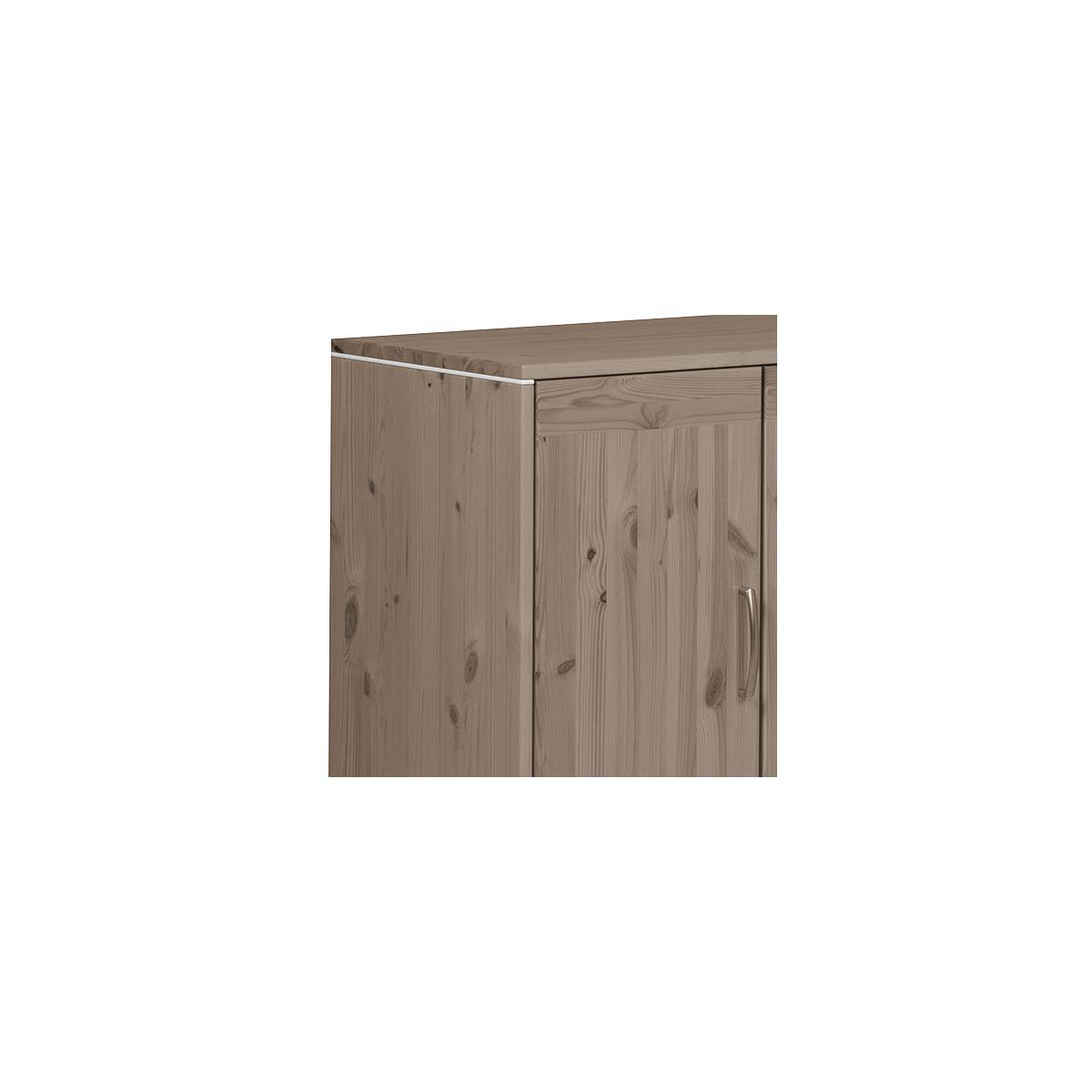 Armario infantil 2 puertas 1 estante NEW CLASSIC Flexa terra - terra - blanco