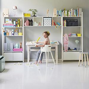 Armario infantil 2 puertas SHELFIE Flexa blanco