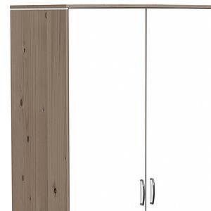 Armario infantil extra alto 3 puertas 2 cajones 4 estantes 2 barras NEW CLASSIC Flexa terra - blanco - blanco