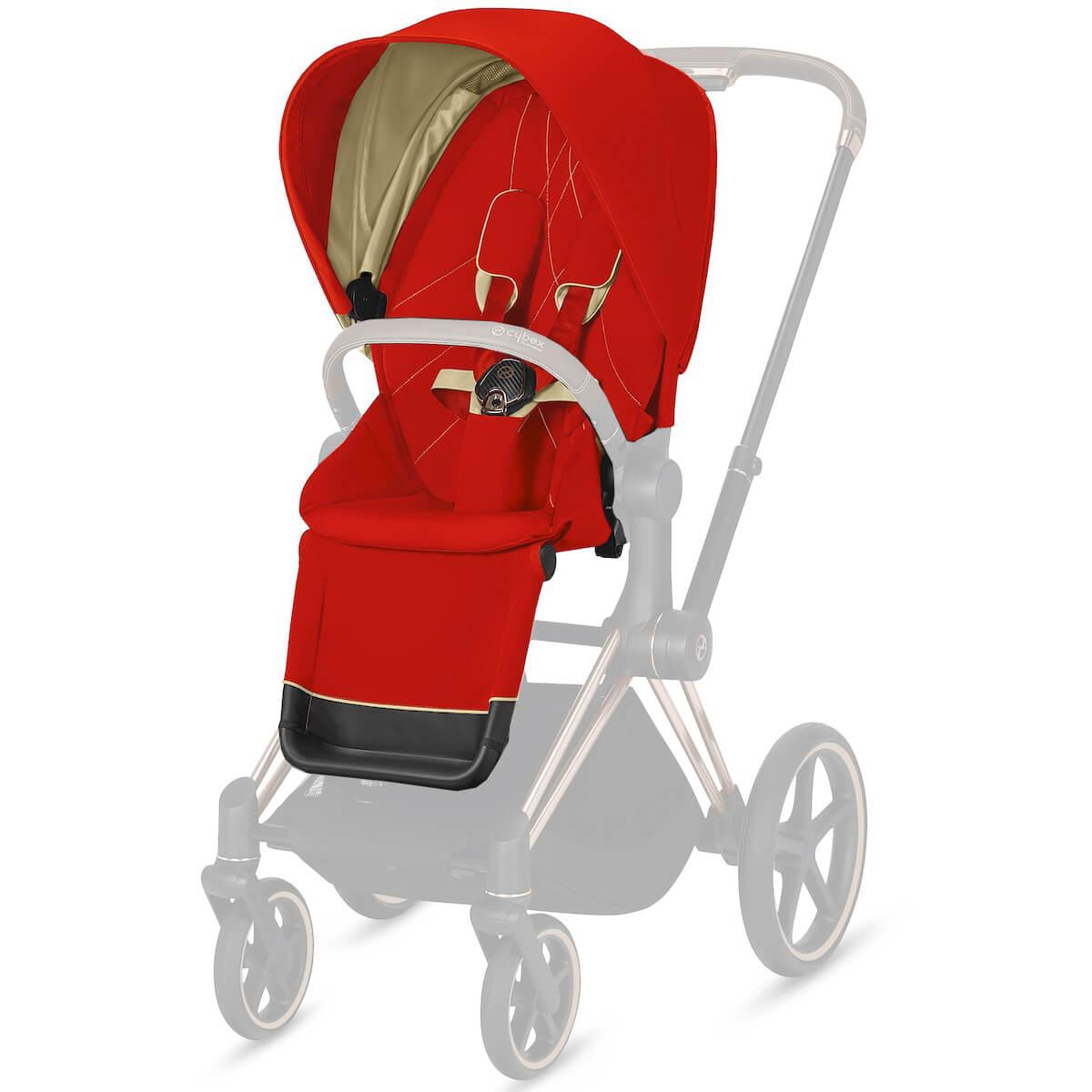 Asiento-pack silla PRIAM Cybex Autumn Gold-burnt red
