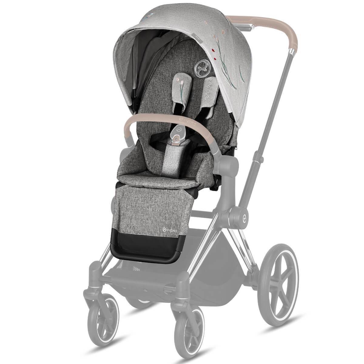 Asiento-pack silla PRIAM Cybex koi-mid grey