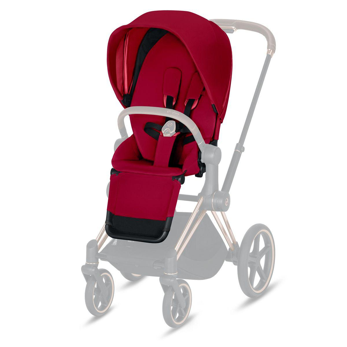 Asiento-pack silla PRIAM Cybex true red-red