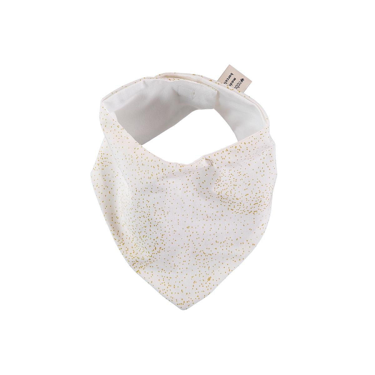 Babero bandana LUCKY ELEMENTS Nobodinoz gold bubble-white