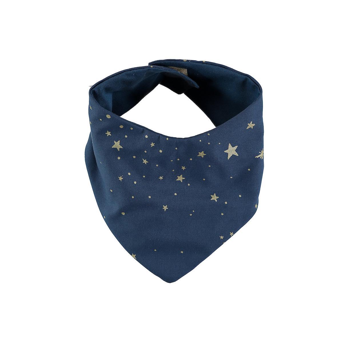Babero bandana LUCKY ELEMENTS Nobodinoz gold stella-night blue