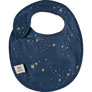 Babero CANDY ELEMENTS Nobodinoz gold stella-night blue