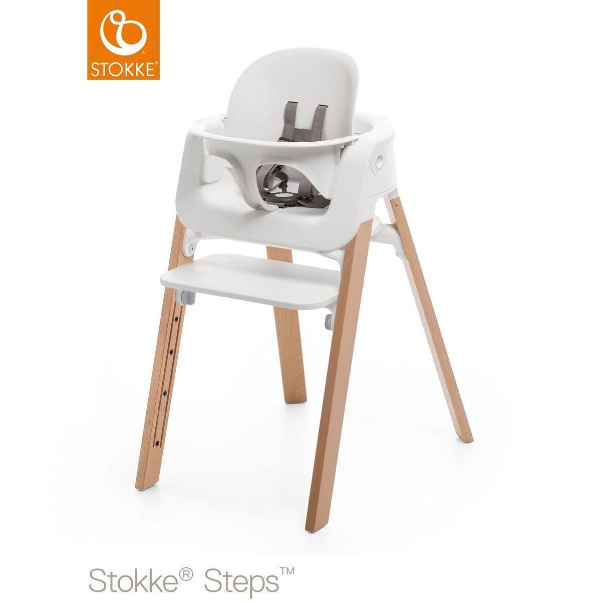 Baby set trona bebé STEPS Stokke blanco