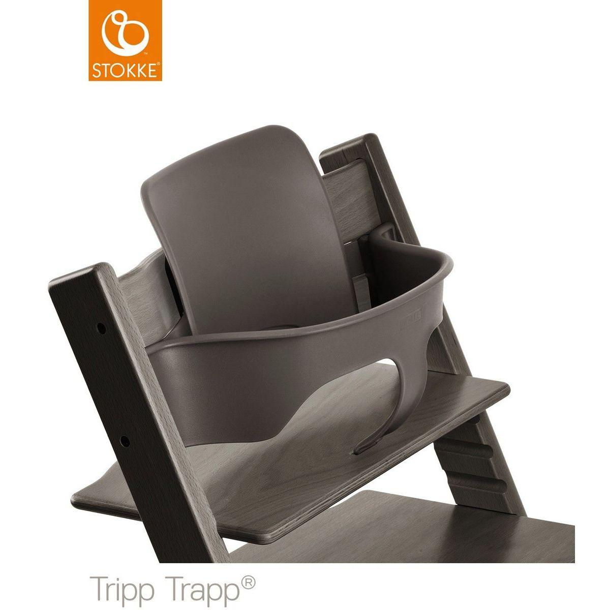Baby set trona bebé TRIPP TRAPP Stokke gris bruma
