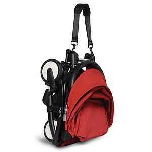 BABYZEN cochecito completo YOYO² bassinet 0+ 6+ negro-rojo