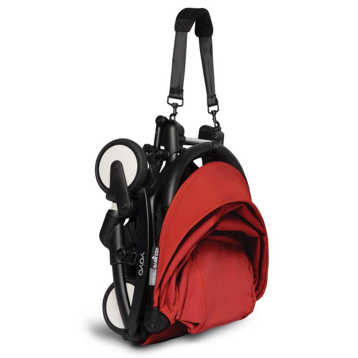 BABYZEN cochecito completo YOYO² bassinet 6+ negro-rojo