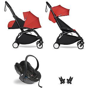 BABYZEN cochecito todo-en-uno YOYO² 0+ silla auto 6+ negro-Red