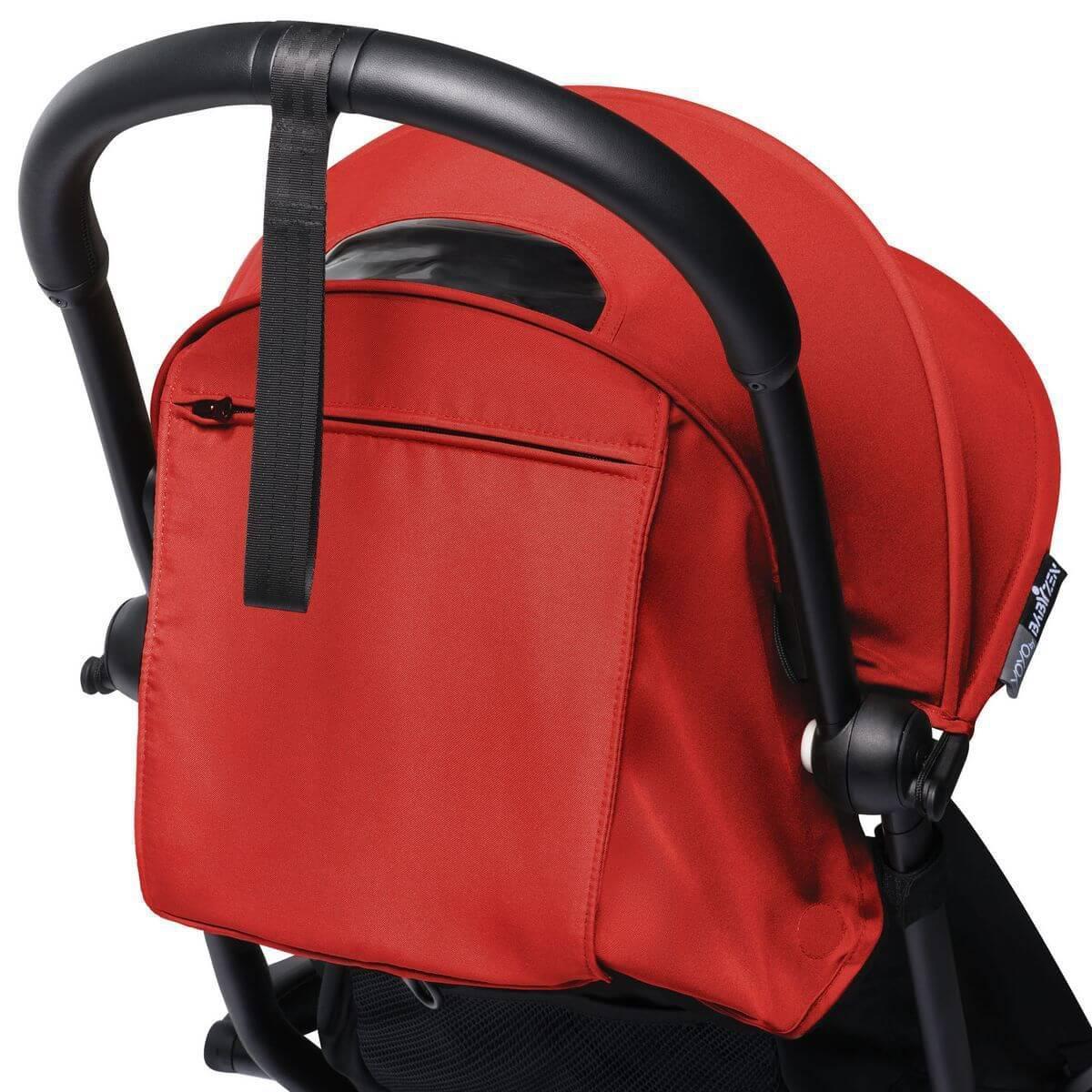 BABYZEN cochecito todo-en-uno YOYO² 0+ silla auto 6+ negro-rojo