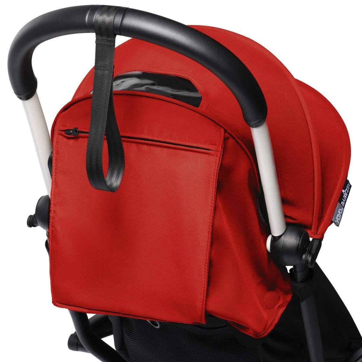 BABYZEN cochecito todo-en-uno YOYO² bassinet car seat 6+ blanco-rojo