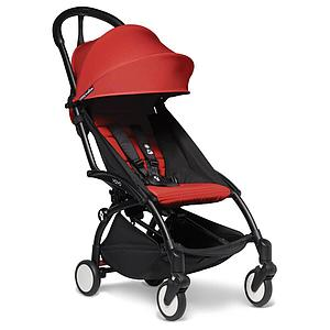 BABYZEN cochecito todo-en-uno YOYO² bassinet car seat 6+ negro-rojo