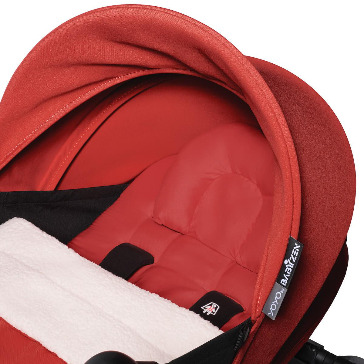 BABYZEN cochecito YOYO² 0+ negro-rojo