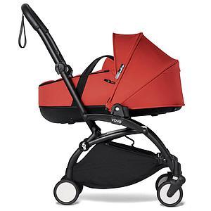 BABYZEN cochecito YOYO² bassinet negro-rojo