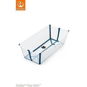 Bañera XL FLEXI BATH Stokke transparent-azul
