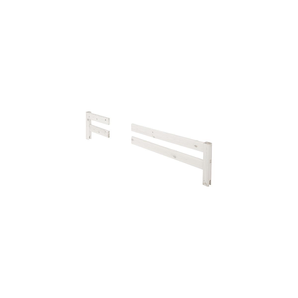 Barrera 2 partes Cama 190cm CLASSIC Flexa blanco cal