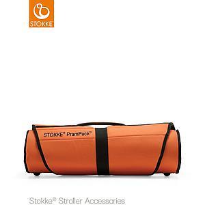 Bolsa carrito bebé viaje PRAMPACK Stokke naranja-negro