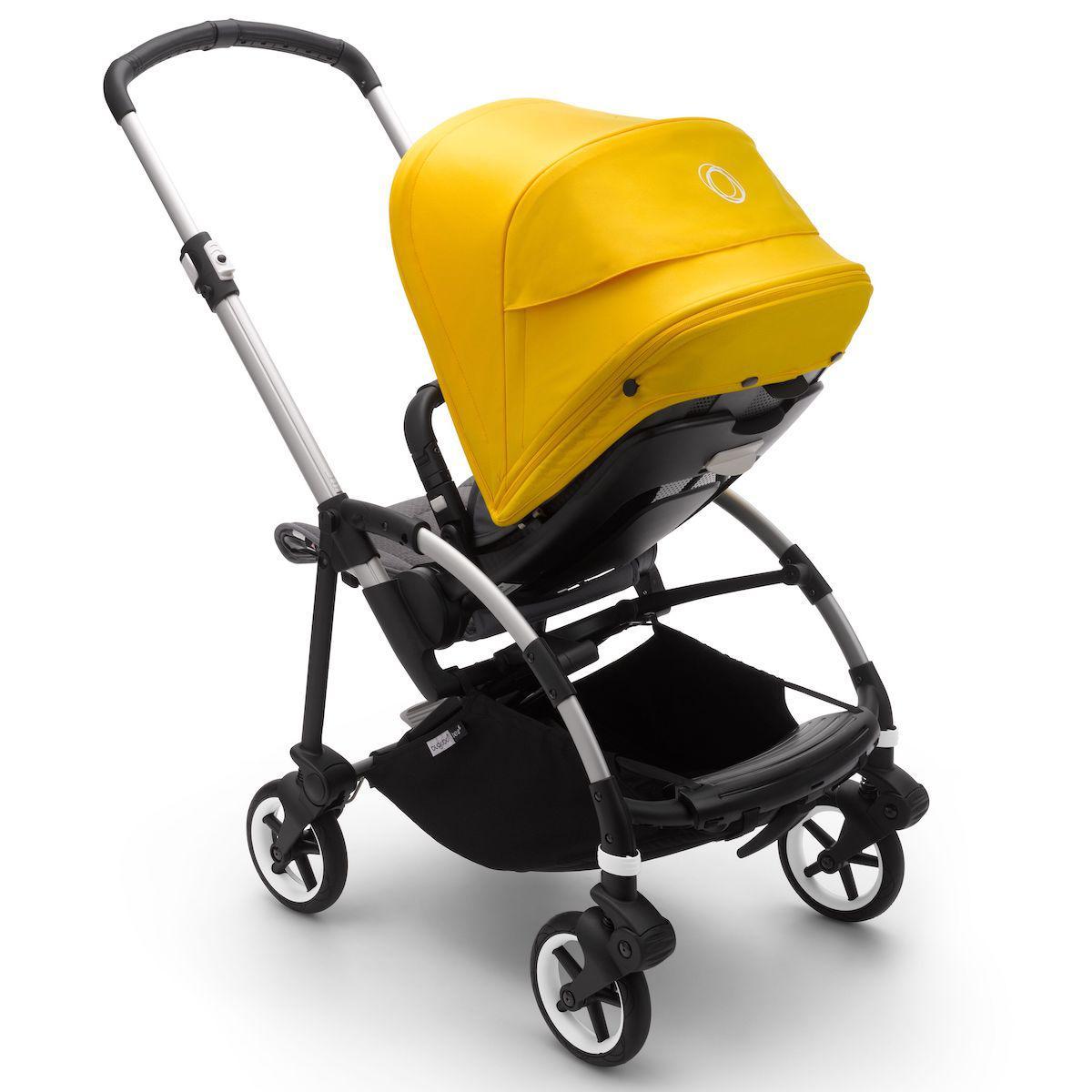 Bugaboo BEE6 carrito completo aluminio-gris melange-amarillo limón