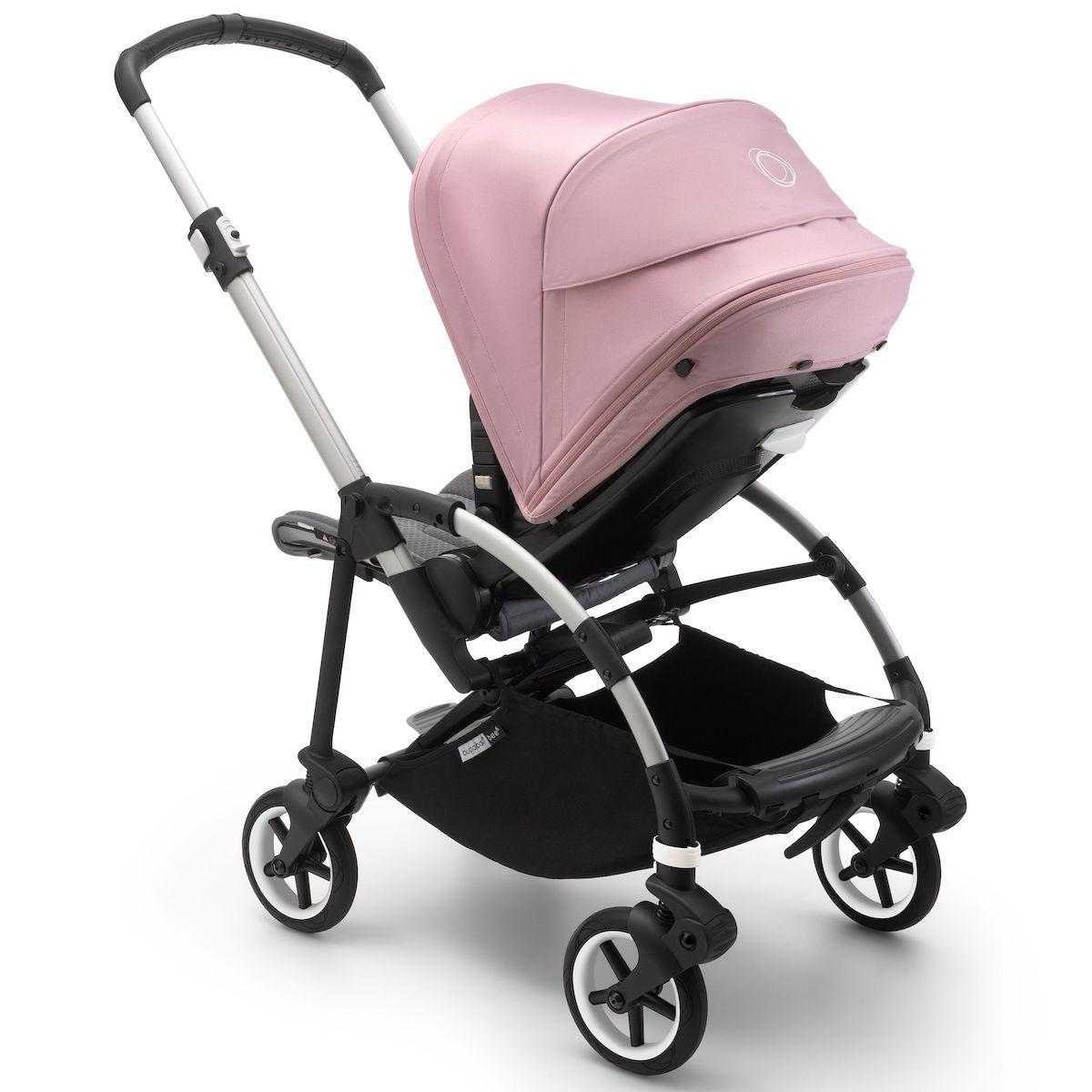 Bugaboo BEE6 carrito completo aluminio-gris melange-rosa pastel